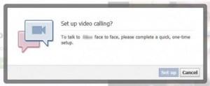 Video call setup prompt