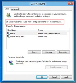 automaticly log in to windows 8