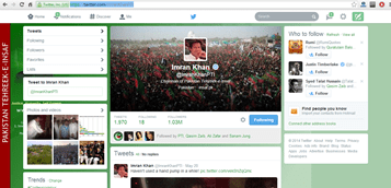 Imran Khan famous Pakistani social media icon
