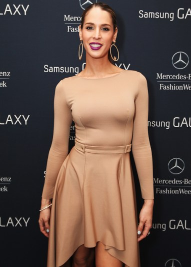NEW YORK, NY - FEBRUARY 12: Model Carmen Carrera attends The Samsung Galaxy Backstage Lounge at Mercedes-Benz Fashion Week Fall 2014 at Lincoln Center on February 12, 2014 in New York City. (Photo by Donald Bowers/Getty Images for Samsung)