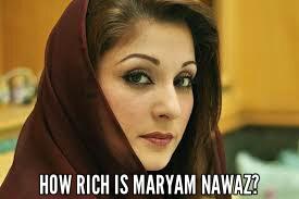How rich is maryam nawaz
