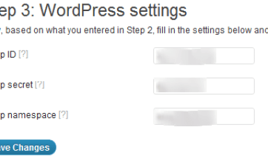 Facebook Plugin Settings wordpress