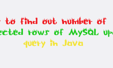 How to find out Number of affected rows of MySQL update query in Java