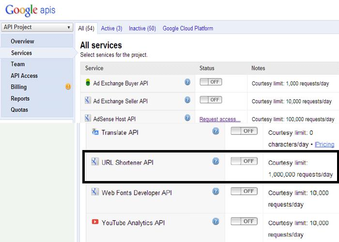 Google Services List