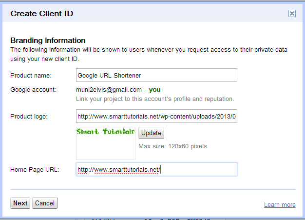 how to create google oAuth 2.0 client id 1
