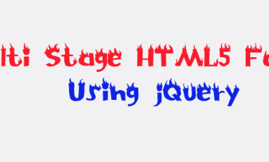 Multi Stage HTML5 Form using jQuery, ajax and css3