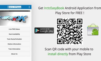 Android application IrctcEasyBook