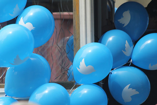 Twitter marketing balloons
