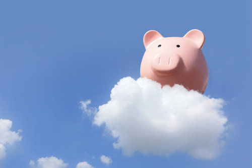 Cloud piggy bank