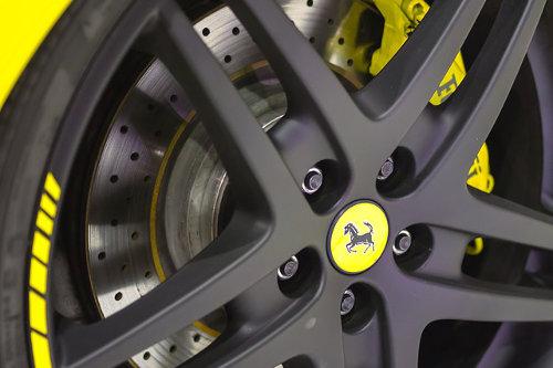 Yellow Ferrari brand color