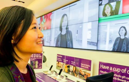 Interactive digital signage in Microsoft store