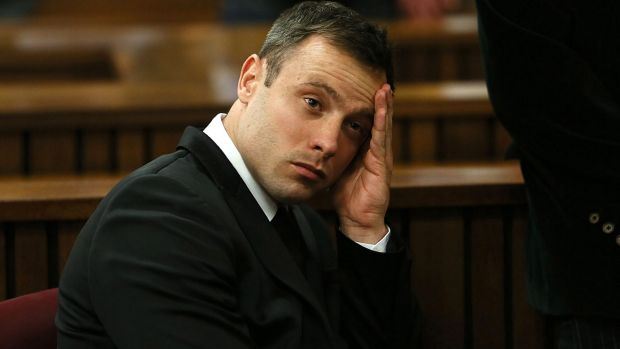 Oscar Pistorius in the Pretoria High Court on October 16 last year. The athlete was freed two weeks ago and has not been seen in public since then.