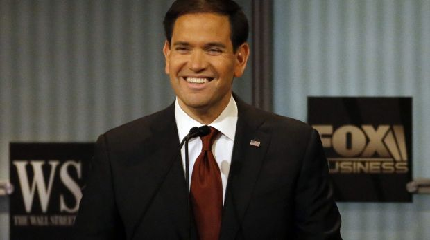 Marco Rubio: all smiles at the debate.