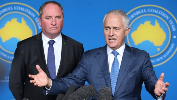 """""""It was a decision of Cabinet"""": Barnaby Joyce said Malcolm Turnbull did not make a captain's pick on Kevin Rudd."""