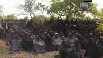 Footage of the kidnapped schoolgirls from May 2014.