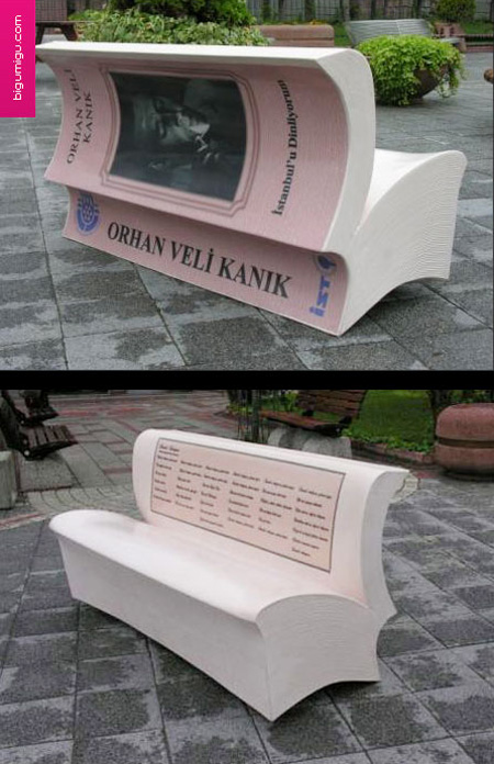 Book Bench Advertisement