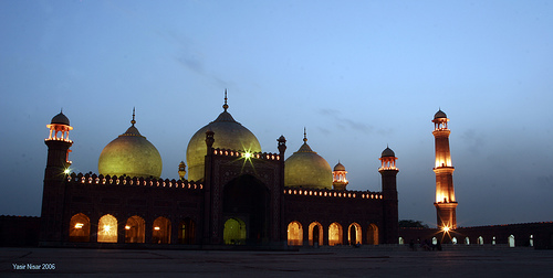 Badshahi Masjid at Night by Max Loxton