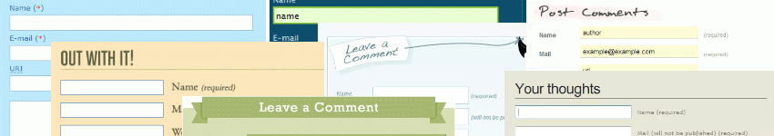 Comment forms design gallery banner