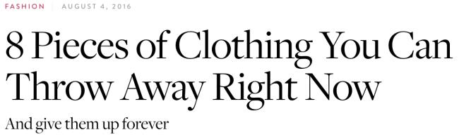 Pure Wow headline typography example
