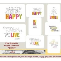 "{Friday Freebie: 3 by 4 inch ""Quote""cards}"