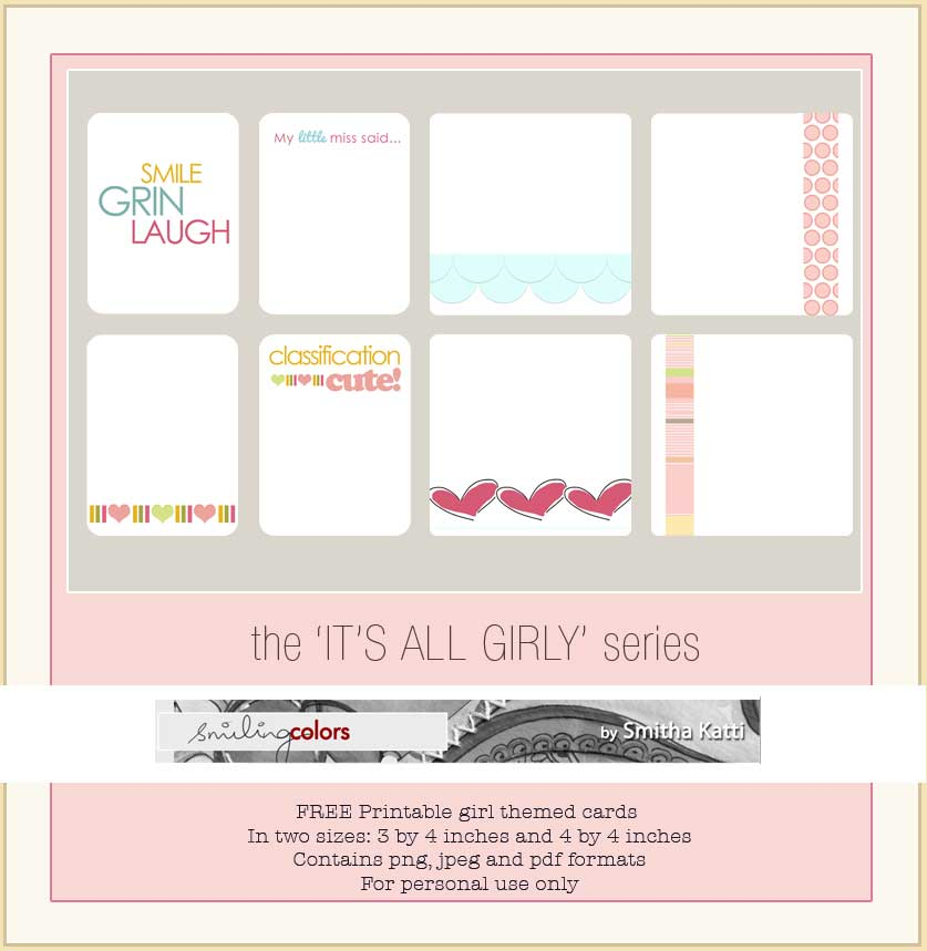 Girl themed printables