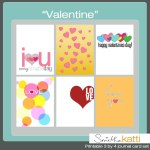 Free Printables Valentine themed : Cards and tags