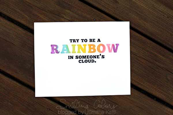 Free Printable Rainbow Quote