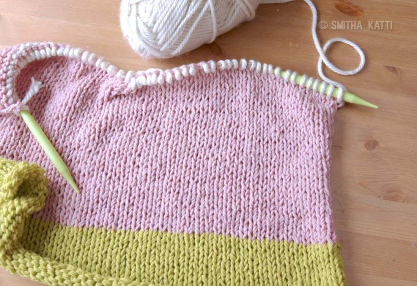 pastel colored handmade knit