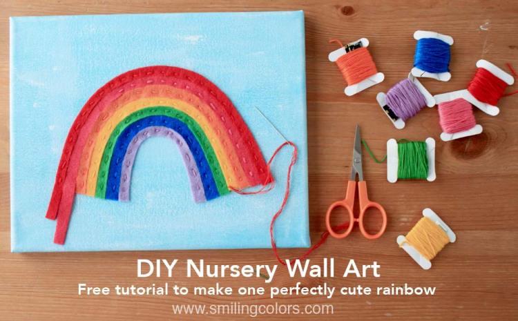 DIY rainbow art
