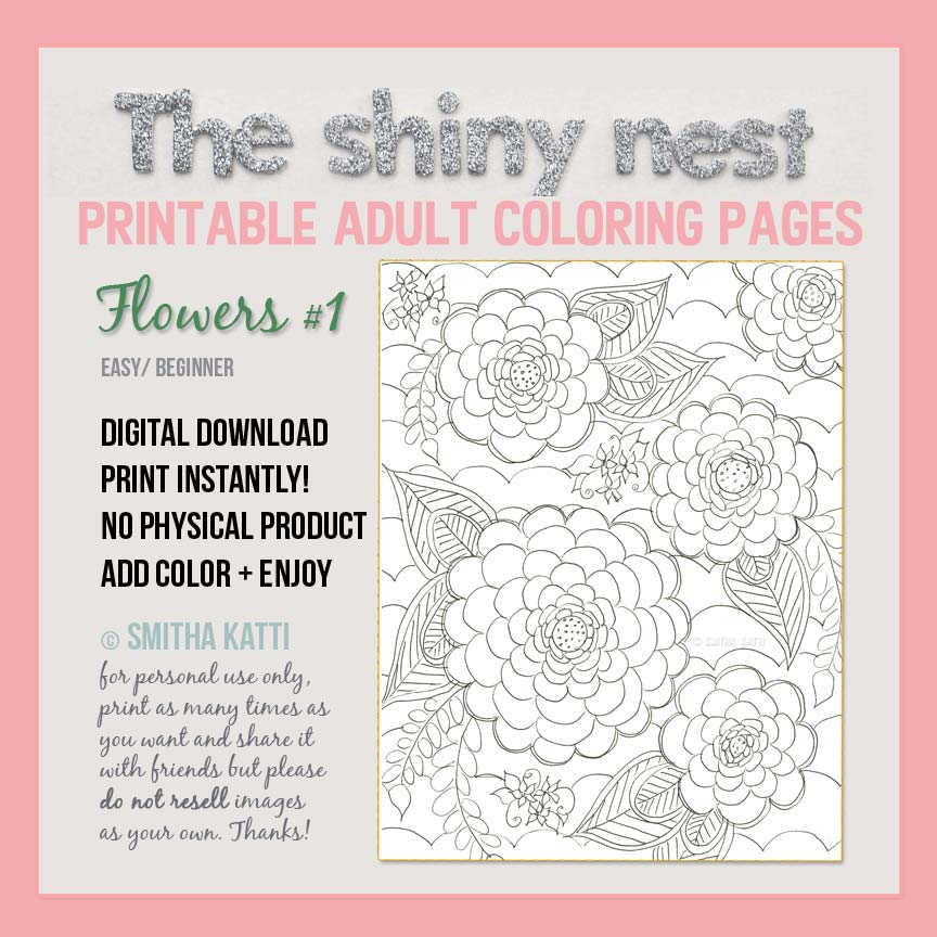 Free Printable Adult Coloring Pages I Have A Previous Blog Post Where Talk About How Print Such Printables At Home On My Favorite Printer