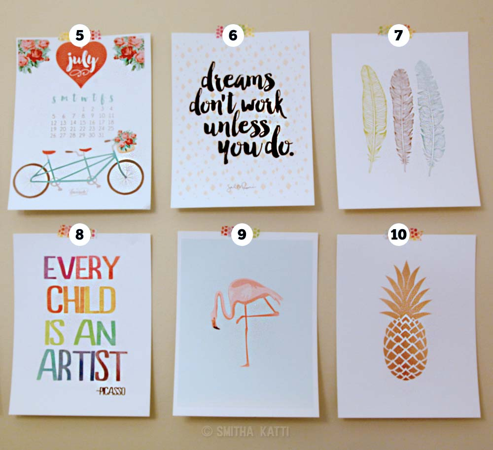 free printable gallery wall art smitha katti