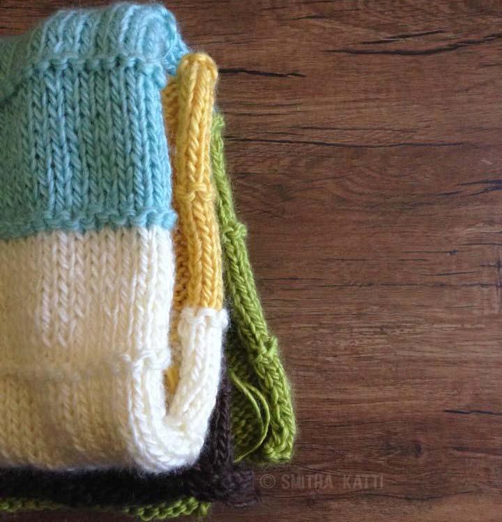 Knit Multi Colored Blanket - Smitha Katti