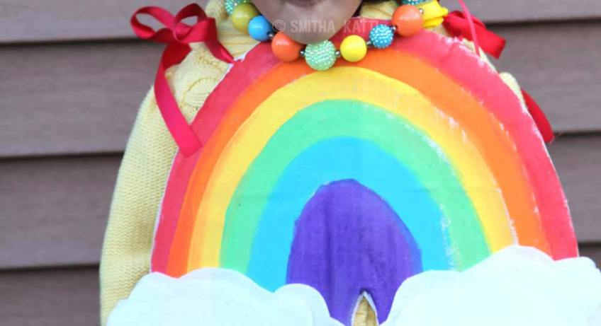 how to make a rainbow costume