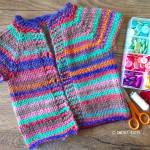 Quick Knit Girls Cardigan