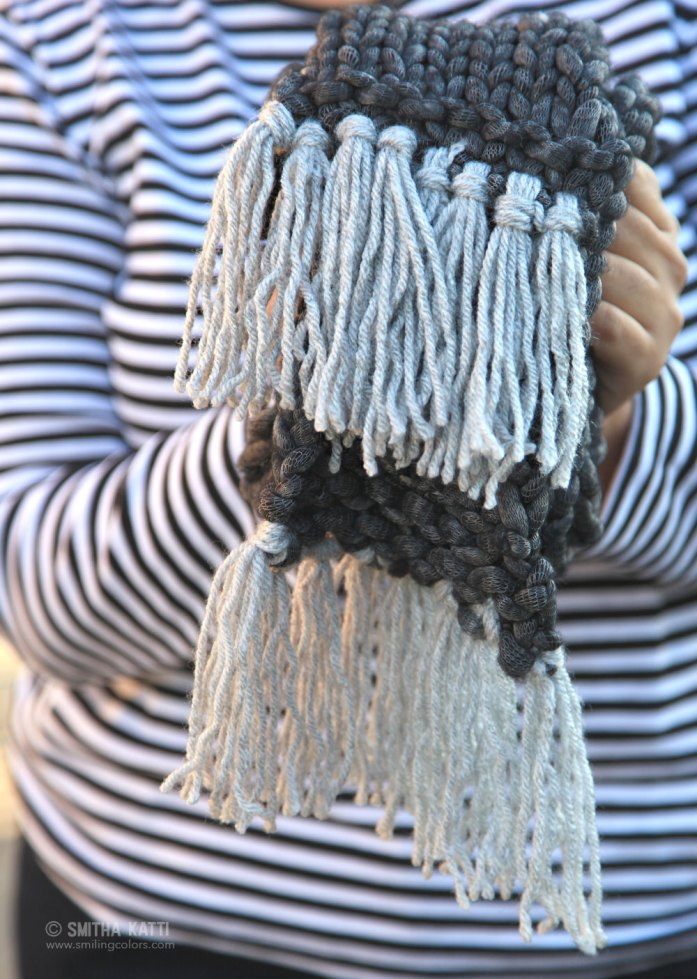 Fast Knit Scarf Pattern : Quick Knit Scarf with Free Pattern - Smitha Katti