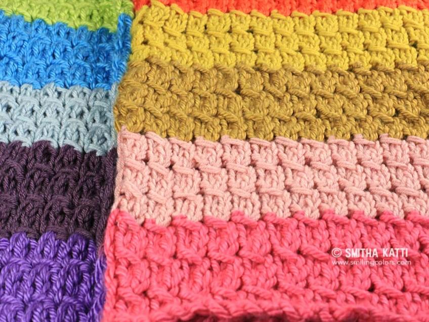Knit slant stitch