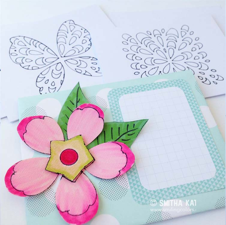 Tombow Stampendous Blog hop: Coloring note cards