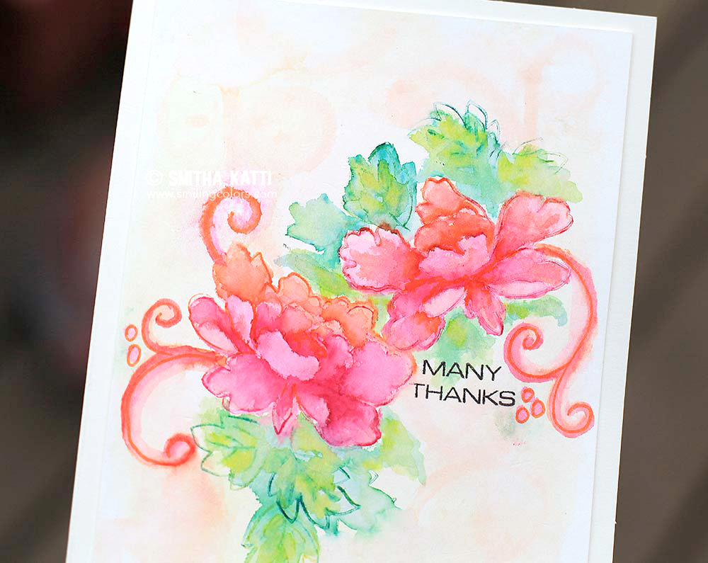 Stamping and Watercoloring : Altenew Tombow Hop