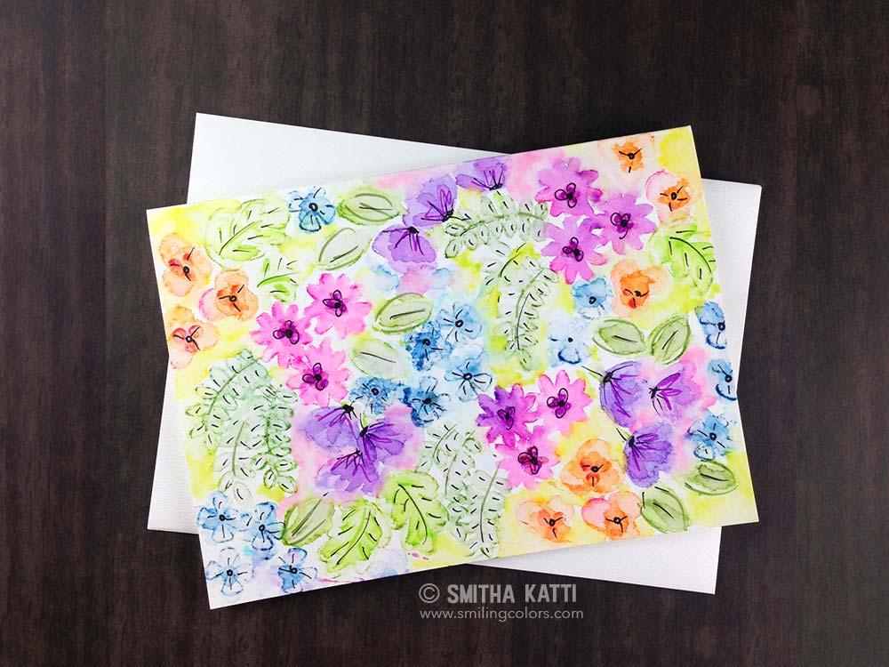 Watercoloring Stamped Images Video: Tombow and Avery Elle Blog Hop
