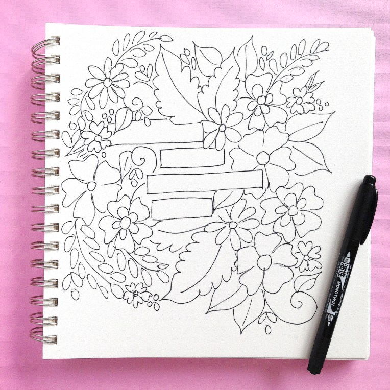 easy flower coloring printable for free