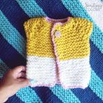 The quick and easy baby sweater that I knit in one night