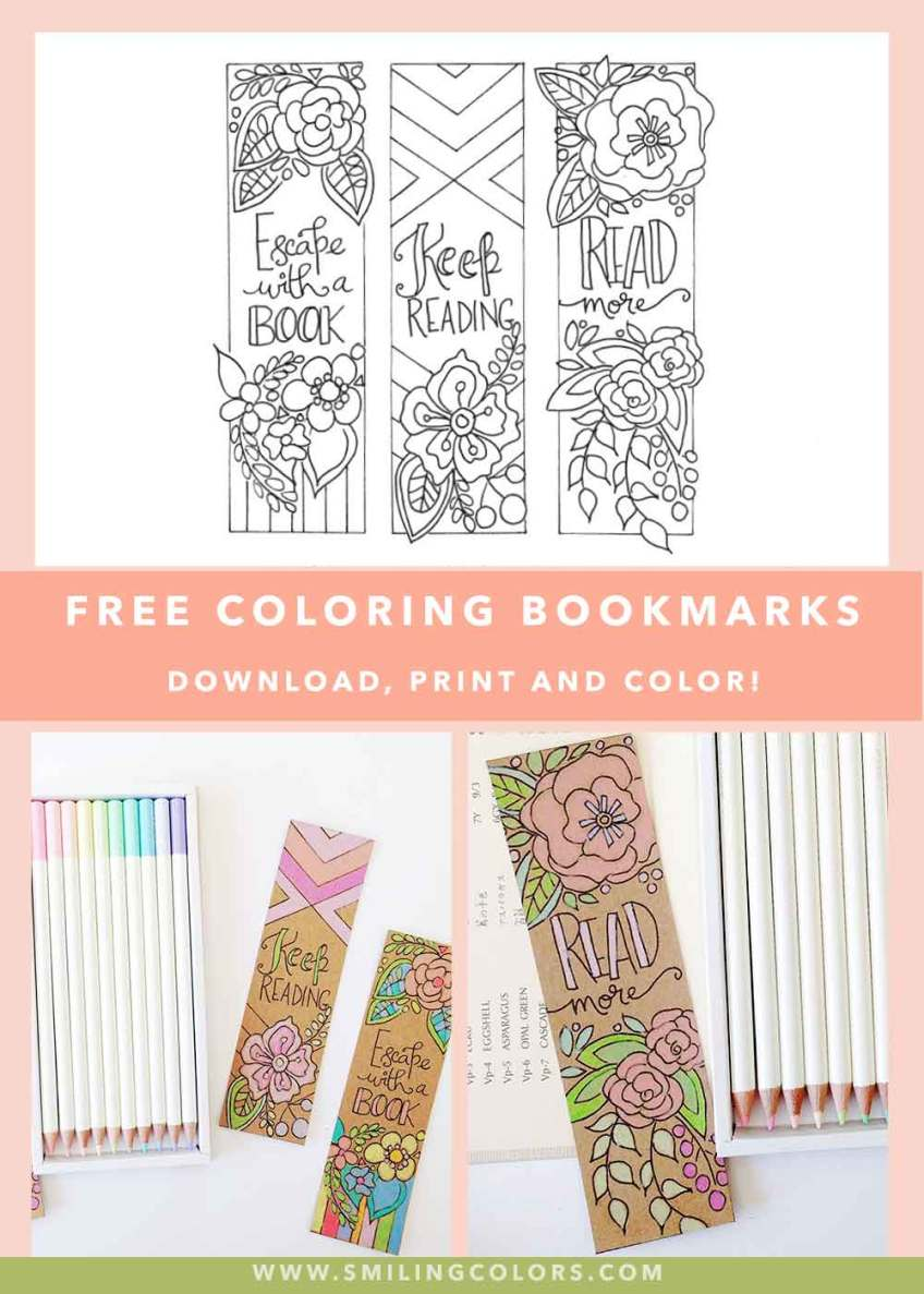 Free coloring bookmarks