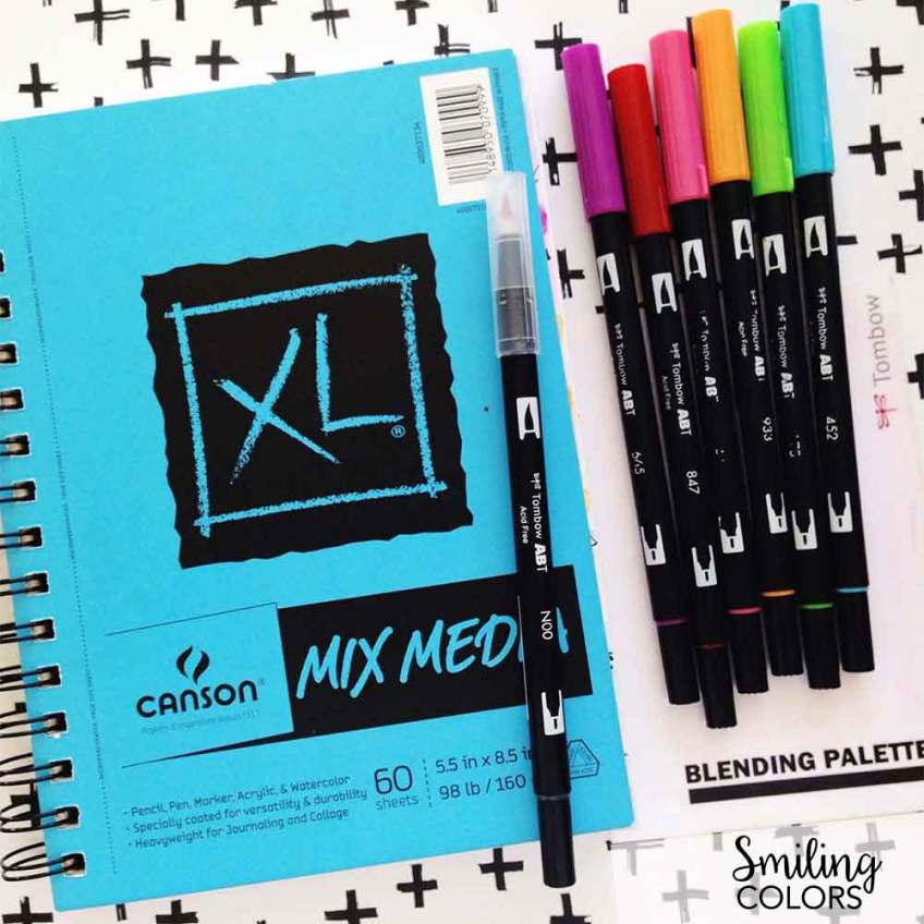 brush lettering papers canson