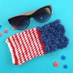 How to crochet a sunglass case with a FREE easy pattern