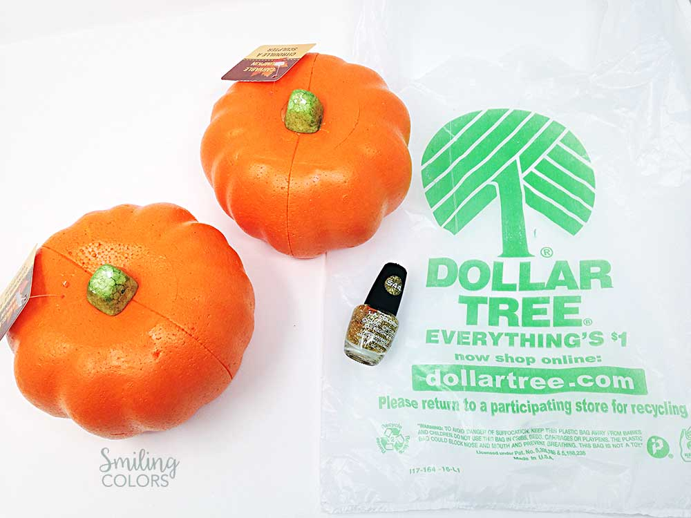 dollar tree foam pumpkin decorating
