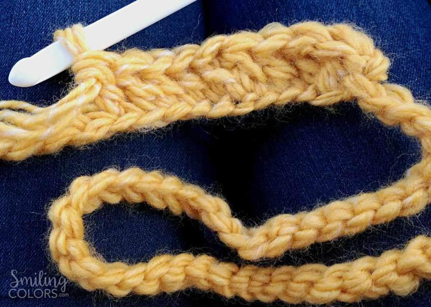easy double crochet scarf variegated yarn