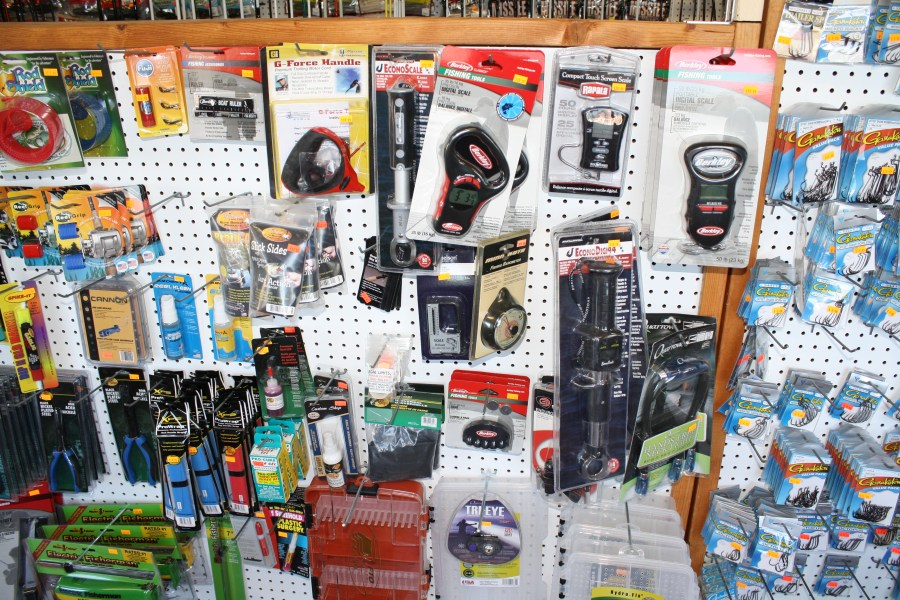 *New stocked fishing supplies.