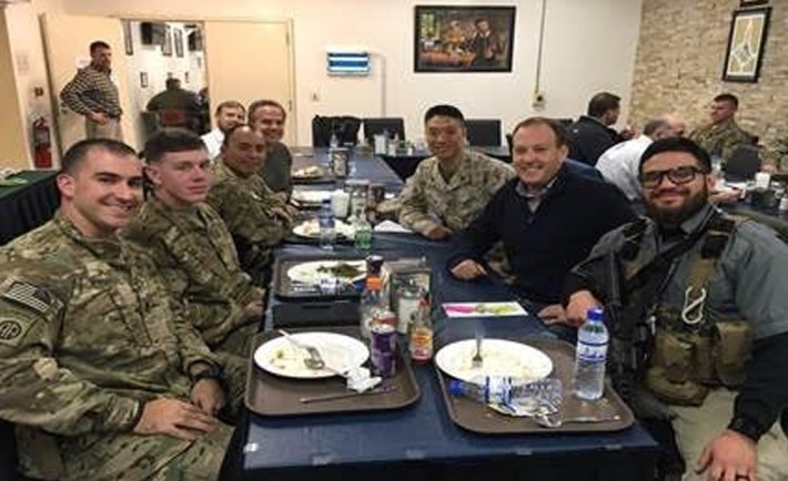 Congressman Lee Zeldin Middle East Trip US Soldiers Holidays