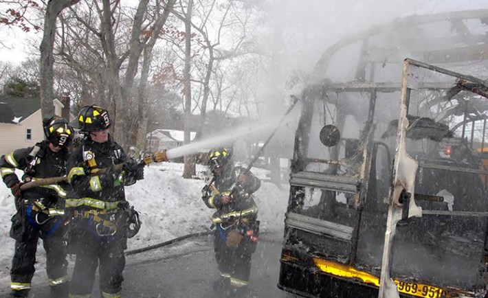 smithtown school bus fire