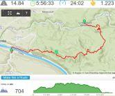 met een trammetje naar de Wasserfall en dan de tocht de Schramsteinen op.... En dan weer naar beneden, natuurlijk...